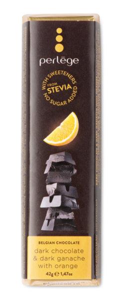 Perlége тъмен шоколад с портокал без захар